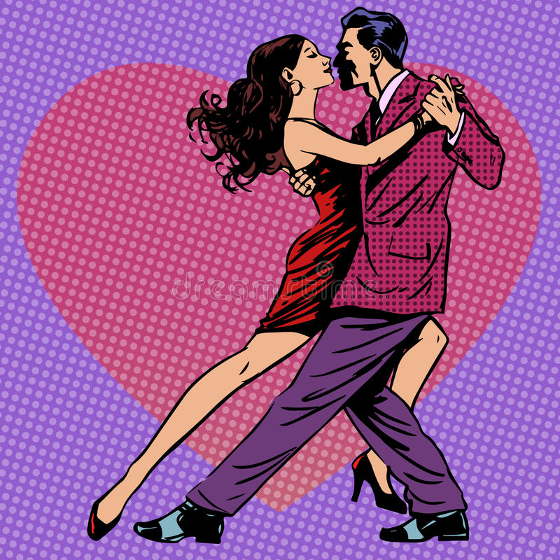 Hjärtor för bakgrund för dansmankvinnor royaltyfri illustrationer