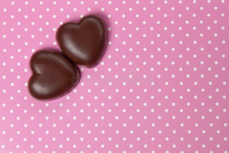 Hjärtor för chokladgodis royaltyfri bild