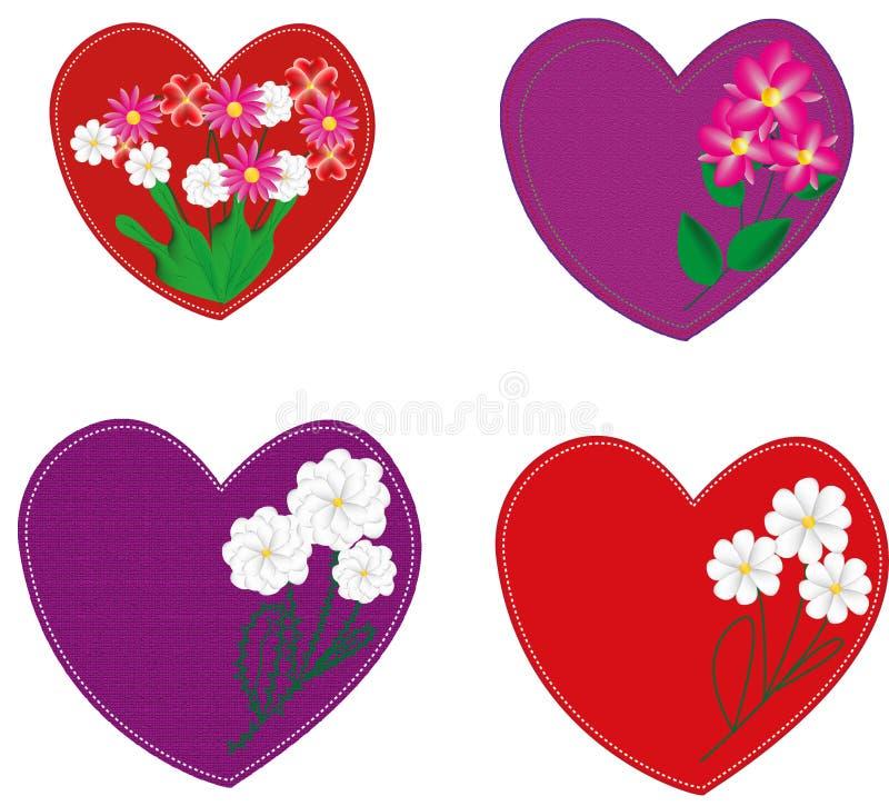 Hjärtor för ferievalentin dag royaltyfri illustrationer