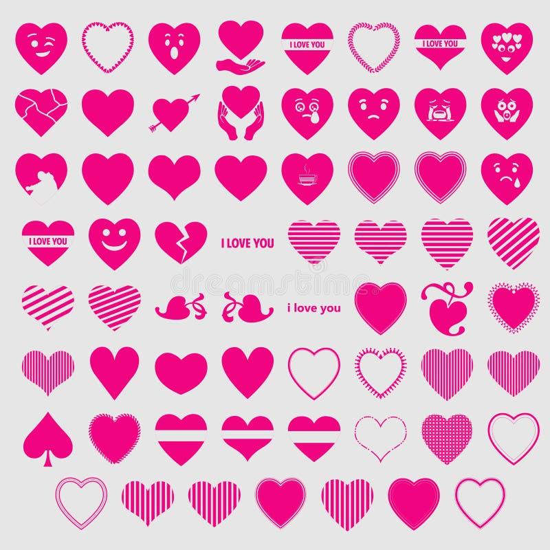 Hjärtor I älskar dig vektorer royaltyfri illustrationer