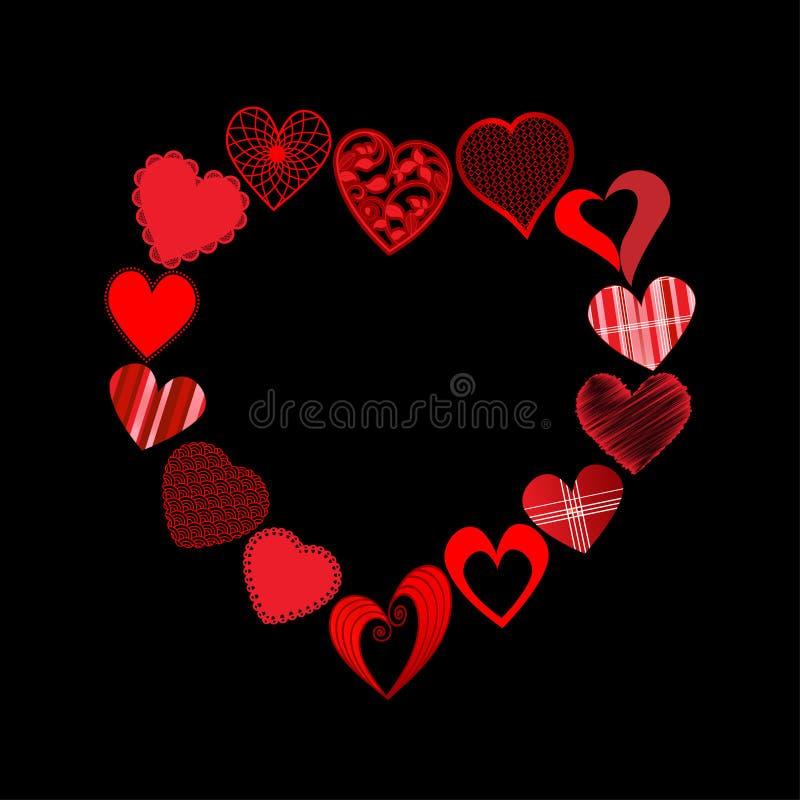 Hjärtor I HjärtaShape Royaltyfri Fotografi