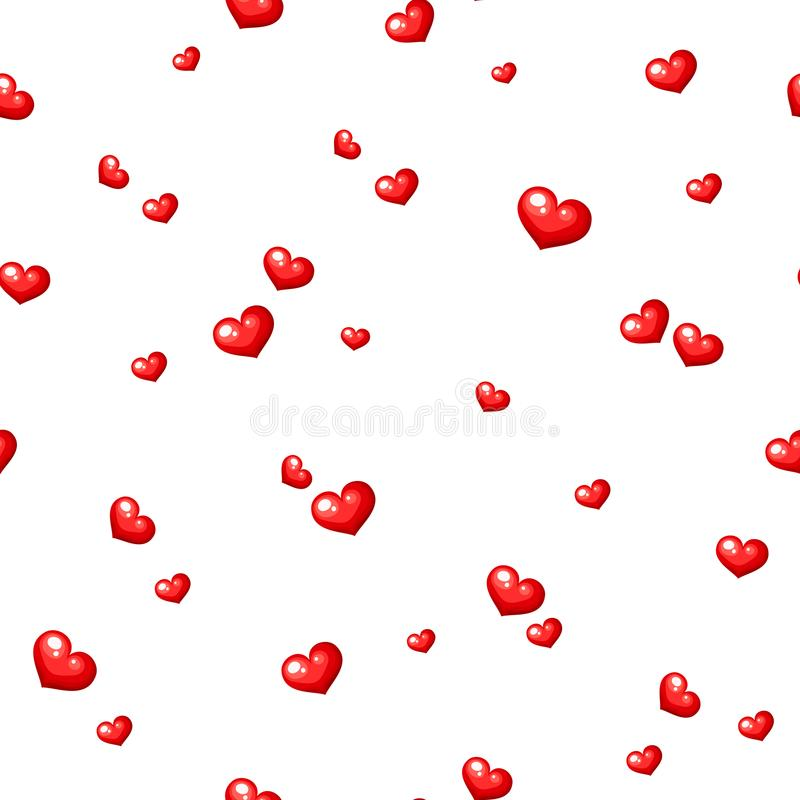 hjärtor mönsan rött seamless också vektor för coreldrawillustration royaltyfri illustrationer