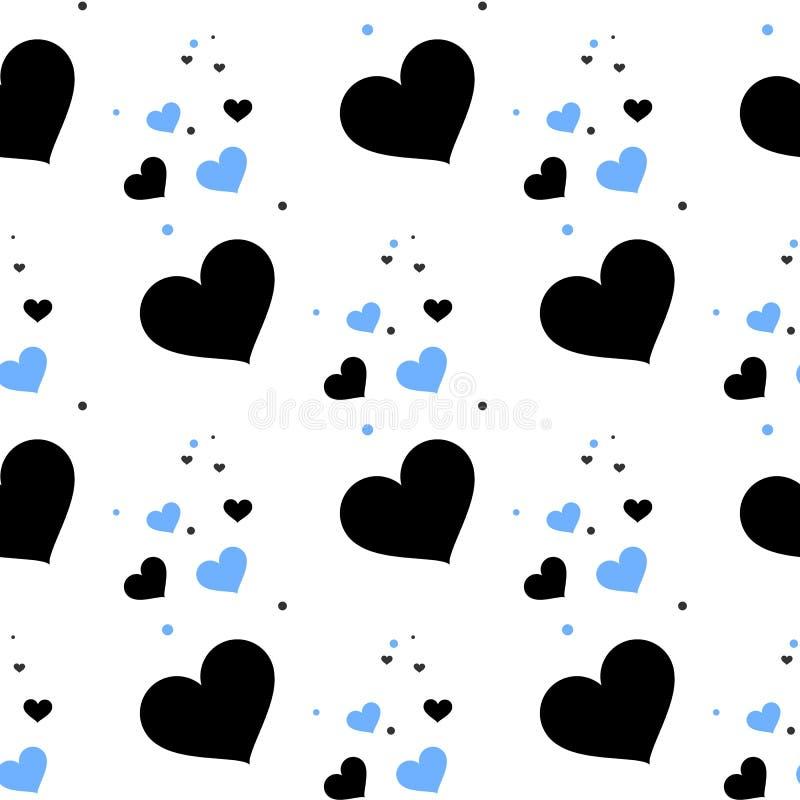 hjärtor mönsan seamless Vektor som upprepar textur royaltyfri illustrationer
