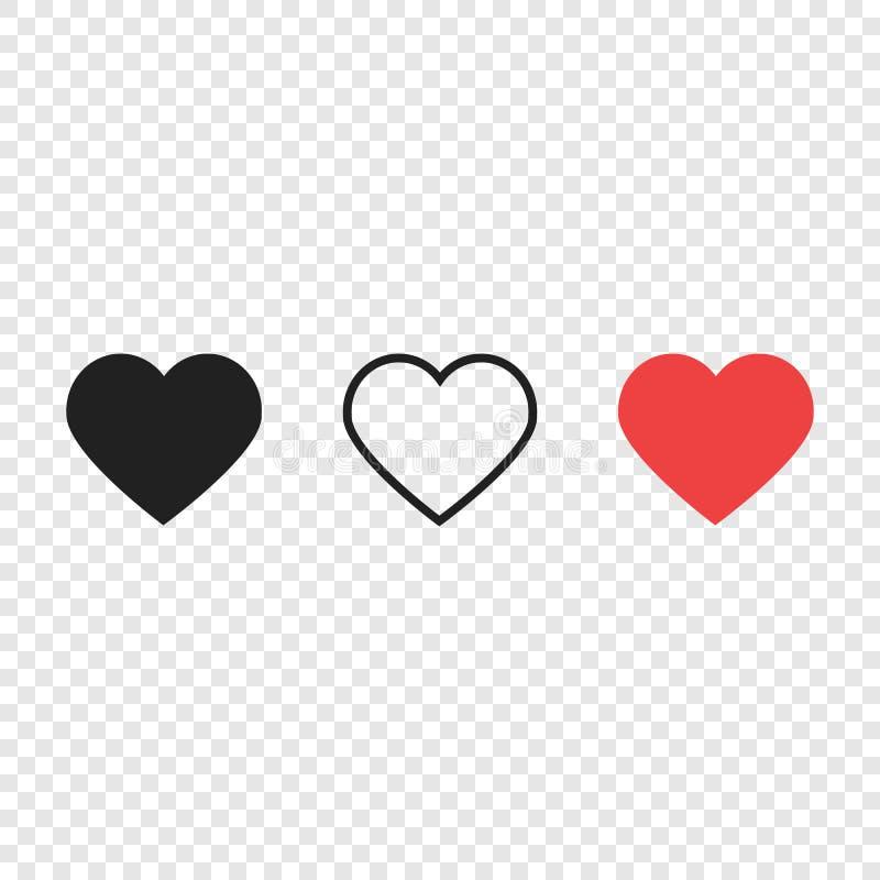 Hjärtor som levande symboler för förälskelse royaltyfri illustrationer