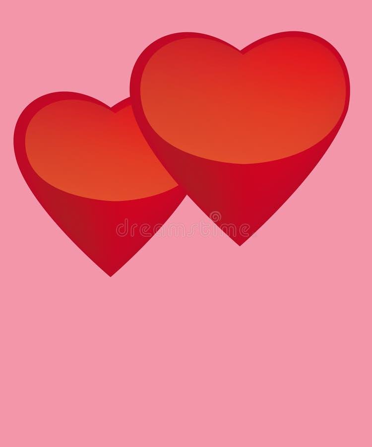 hjärtor två arkivfoton