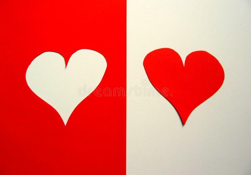 Download Hjärtor två fotografering för bildbyråer. Bild av vänner - 48347