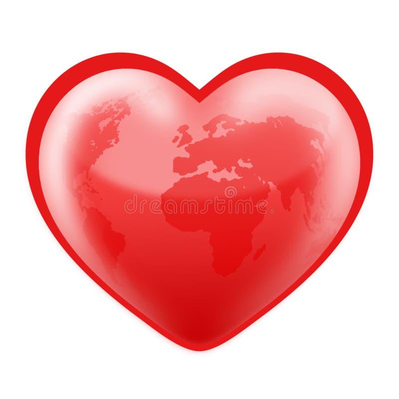hjärta formade världen royaltyfri fotografi