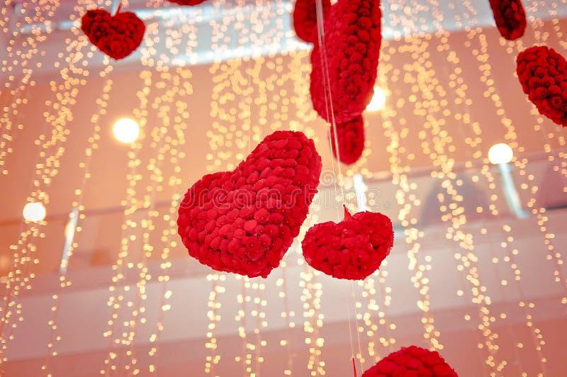 Hj?rtor p? dag f?r valentin` s arkivbild