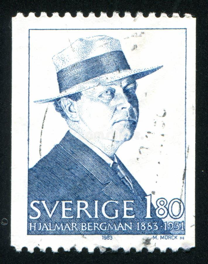 Hjalmar Bergman royaltyfri foto