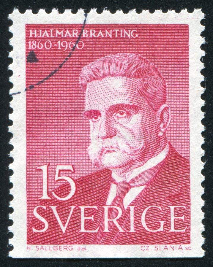 Hjalmar Branting royaltyfri foto