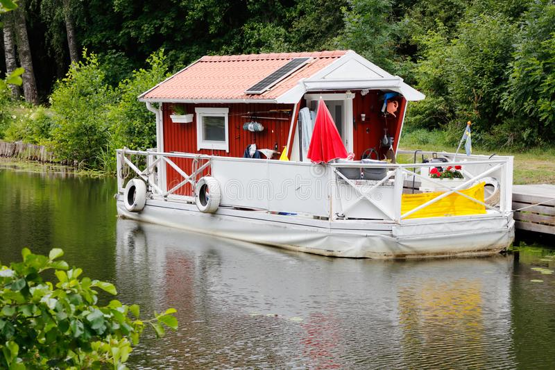 Houseboat royalty free stock photography