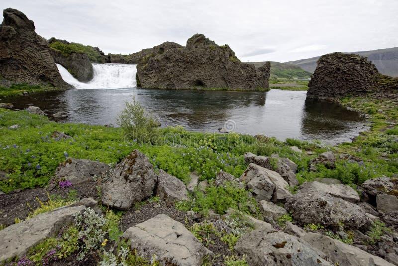 Hjalparfoss en Islandia del sur, Europa fotos de archivo