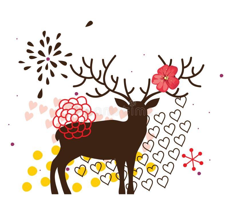 Download Hjortar vektor illustrationer. Illustration av rött, illustration - 27284701