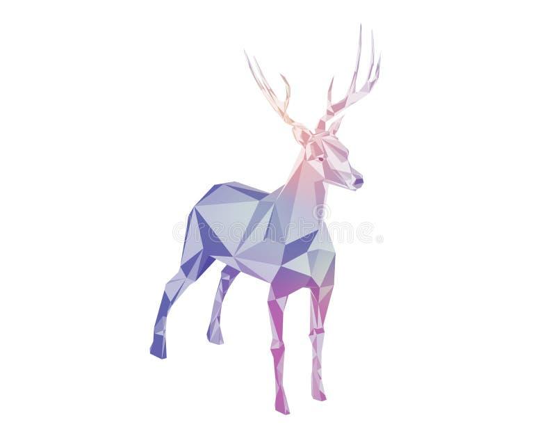 Hjortar vektor illustrationer