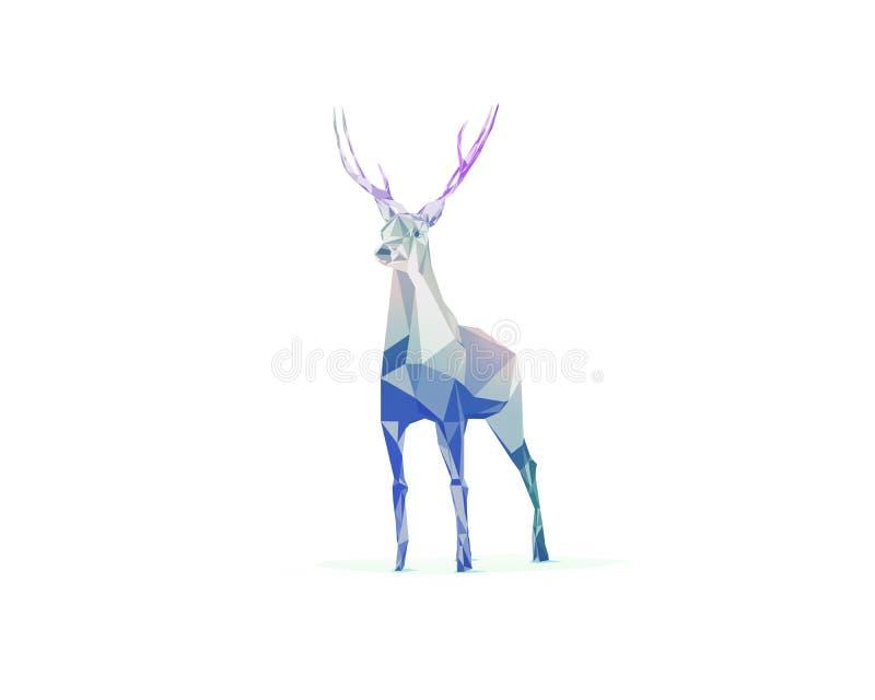 Hjortar stock illustrationer