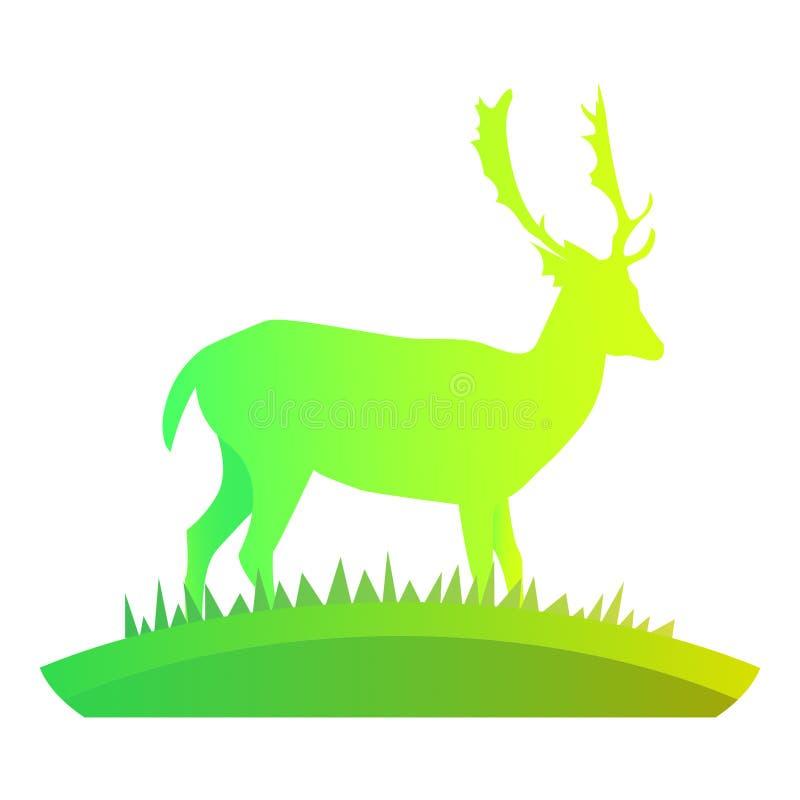 Hjortar i den vildmark-/vektorbilden arkivfoto