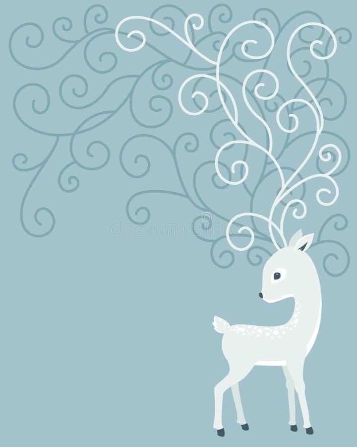 Hjortar med krullningshorn vektor illustrationer