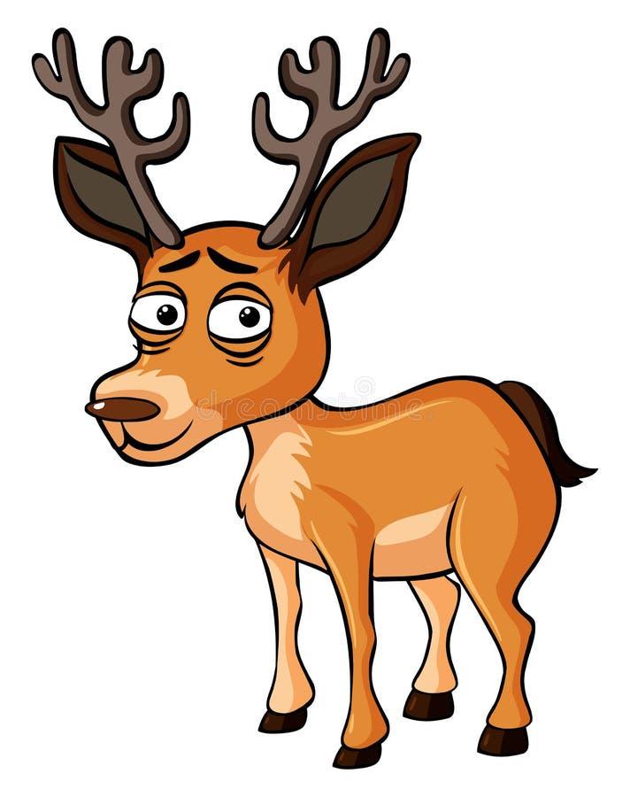 Hjortar med ledsna ögon royaltyfri illustrationer