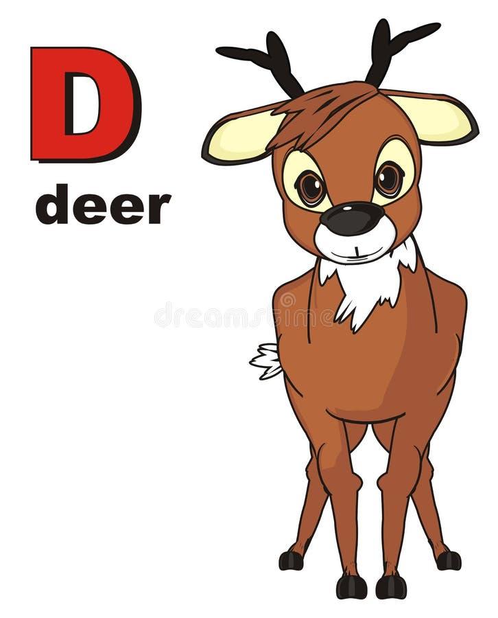 Hjortar och abc vektor illustrationer