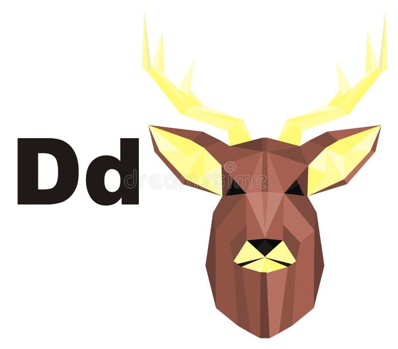 Hjortar och abc stock illustrationer
