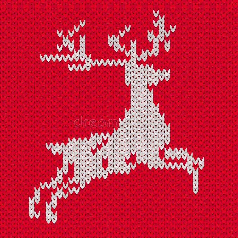 Hjortar på sömlös modell för tröja royaltyfri illustrationer