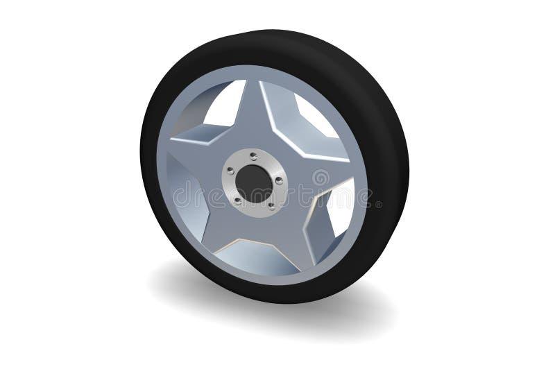 hjul stock illustrationer