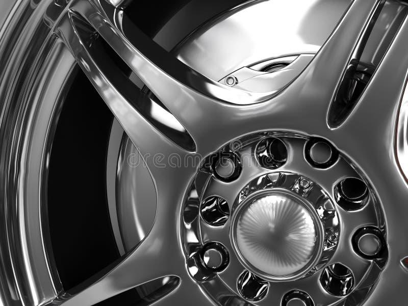 hjul royaltyfri illustrationer