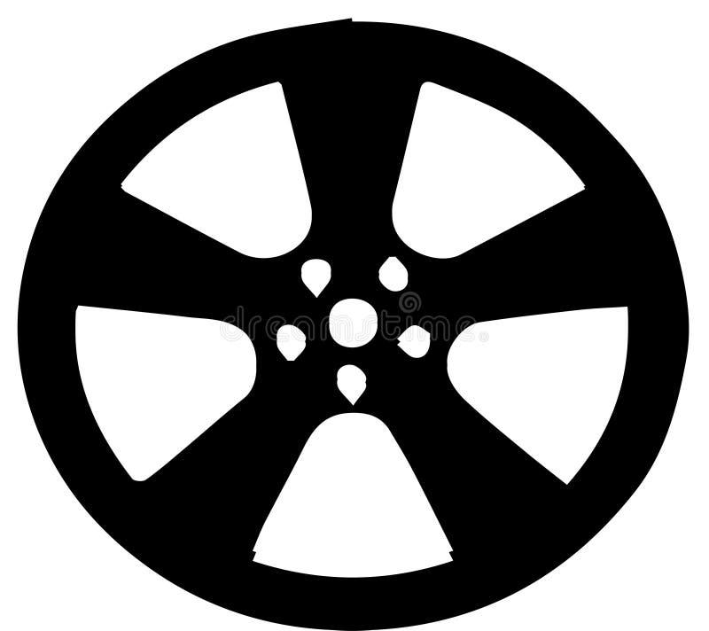 Hjul av bilvektorn royaltyfri illustrationer