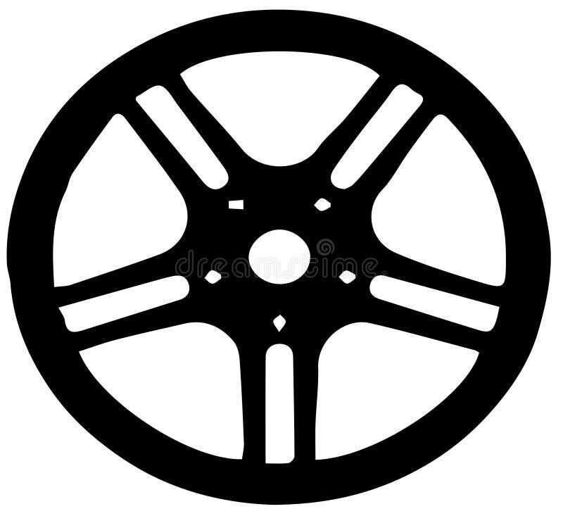 Hjul av bilvektorn vektor illustrationer