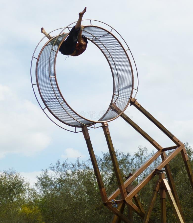 Hjul av dödakrobaten royaltyfri foto