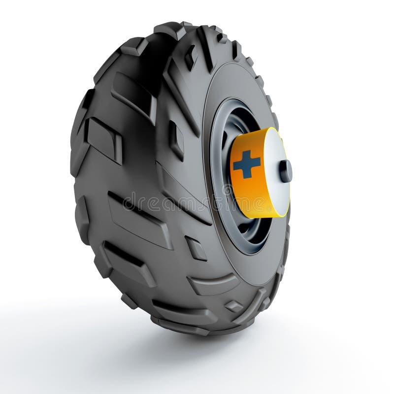 Hjul av en bil vektor illustrationer