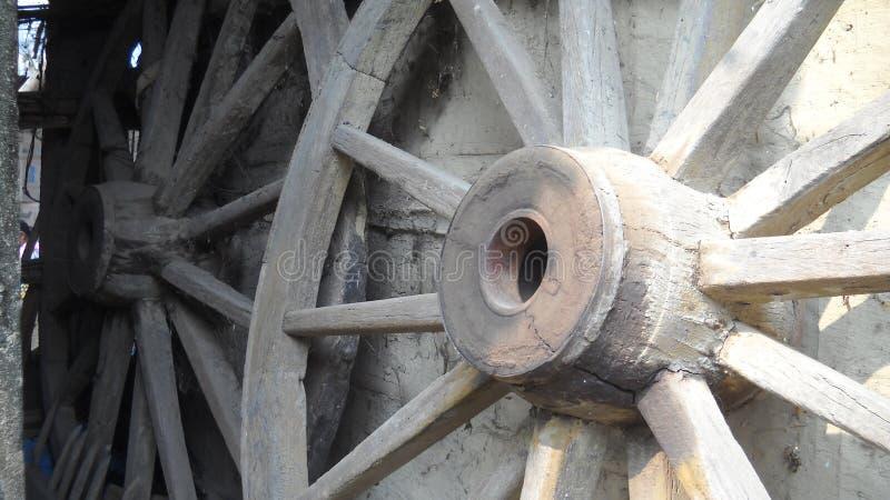 Hjul av en vagn royaltyfria bilder