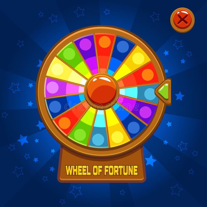 Hjul av förmögenhet för den Ui leken royaltyfri illustrationer