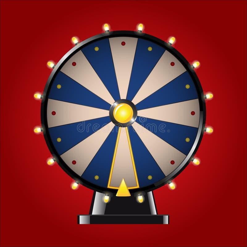 Hjul av förmögenhet - modern bild för realistisk vektor royaltyfri illustrationer