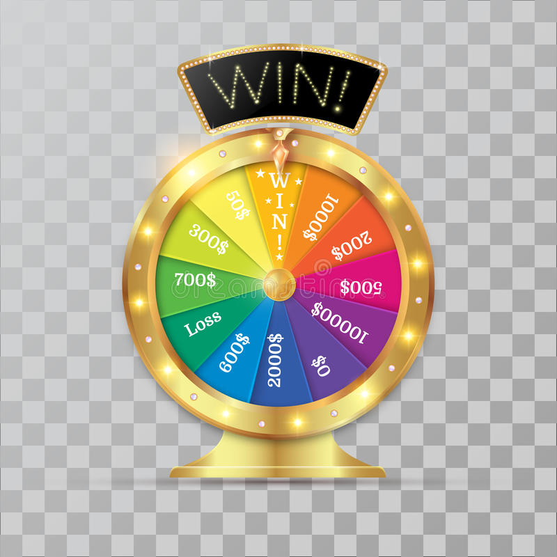 Hjul av objekt för förmögenhet 3d royaltyfri illustrationer