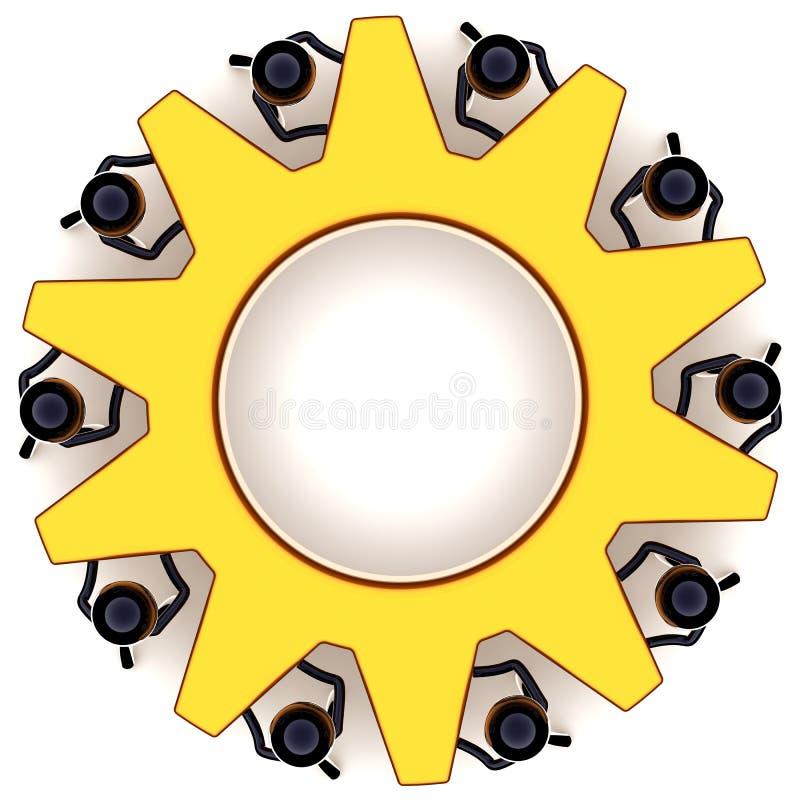 hjul för begreppskugghjulteamwork royaltyfri illustrationer