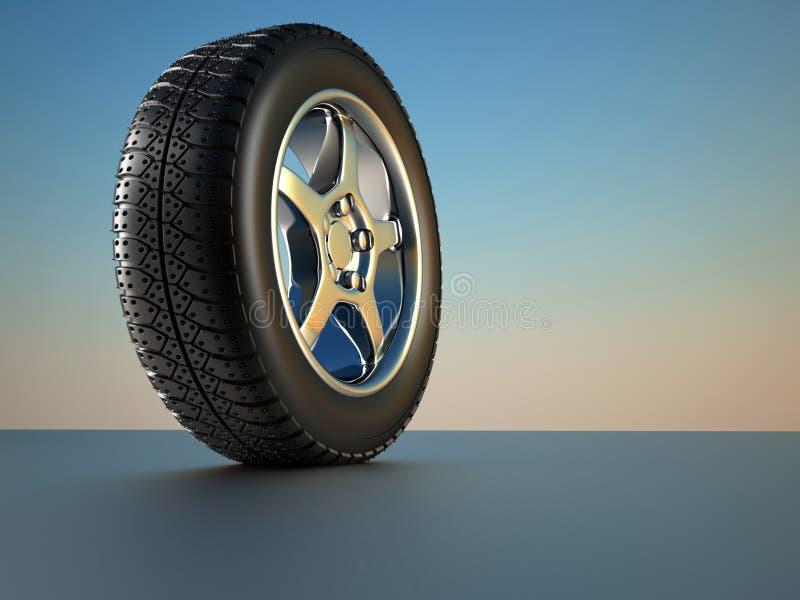 hjul för bilgummihjul vektor illustrationer