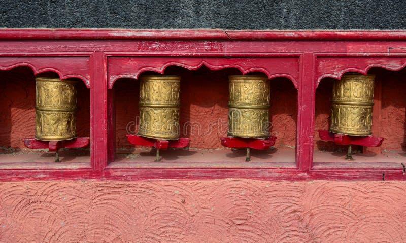 Hjul för buddistTibetian bön royaltyfri foto