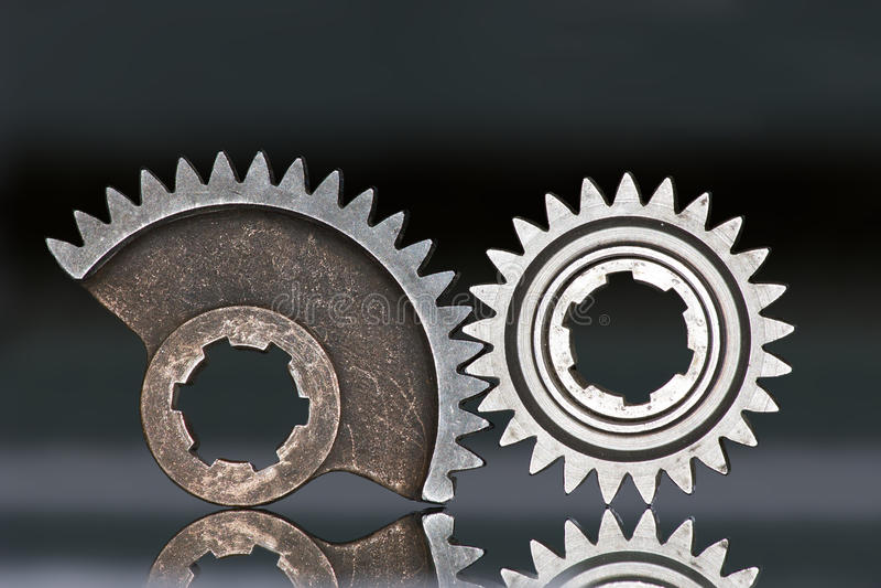 hjul för kugghjul två royaltyfri fotografi