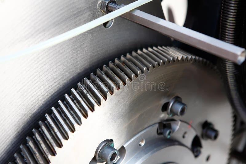 hjul för kugghjulmaskinstål royaltyfri fotografi