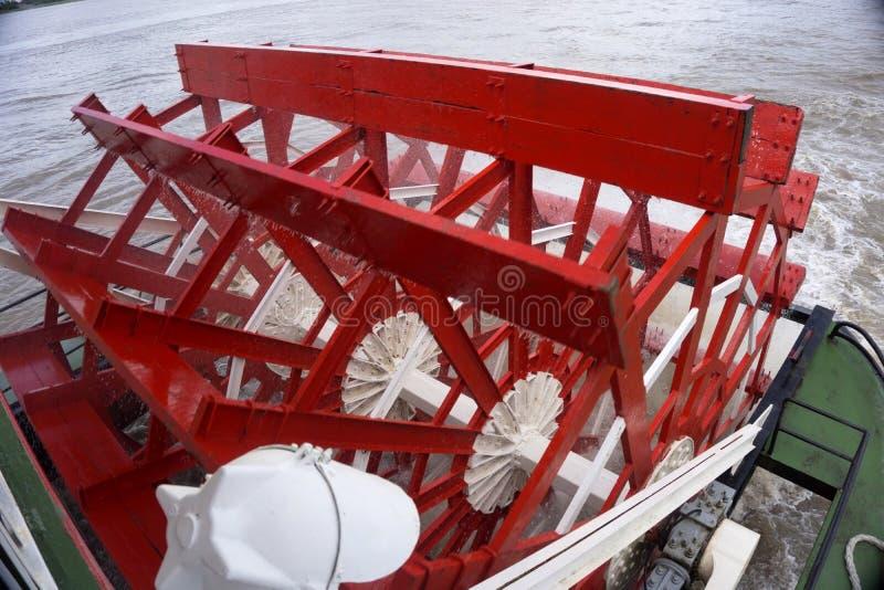 Hjul för Mississippi River skovelfartyg royaltyfri bild