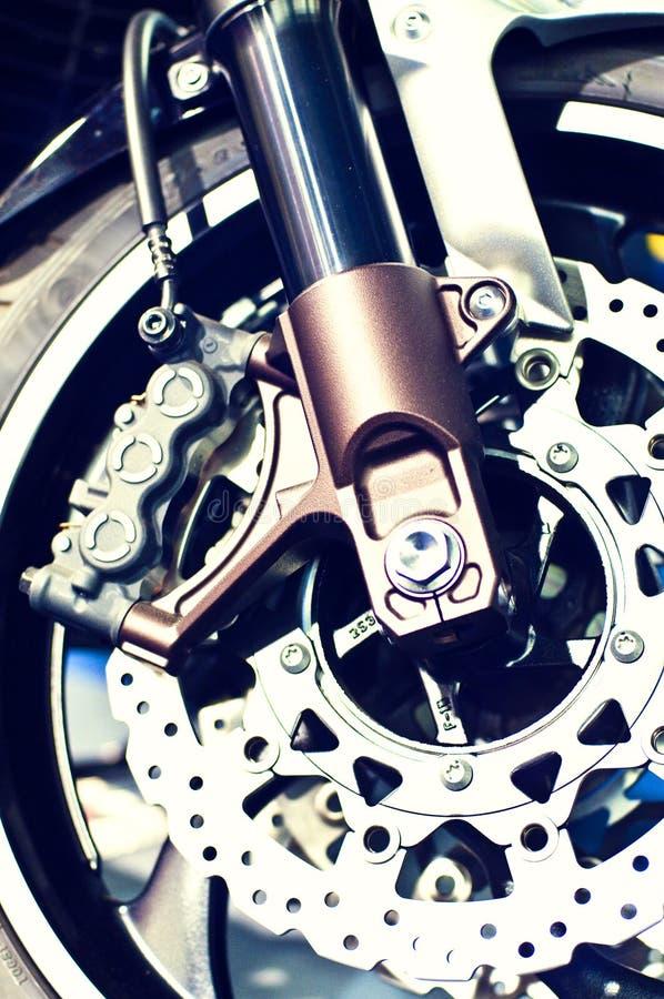 hjul för motorbike för bromsdisk fotografering för bildbyråer