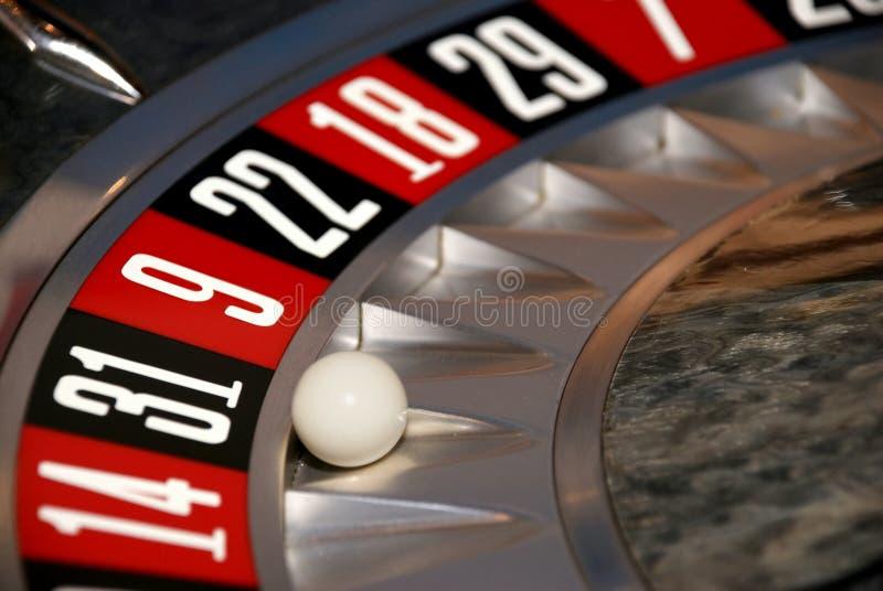 hjul för roulett trettio för kasino ett fotografering för bildbyråer