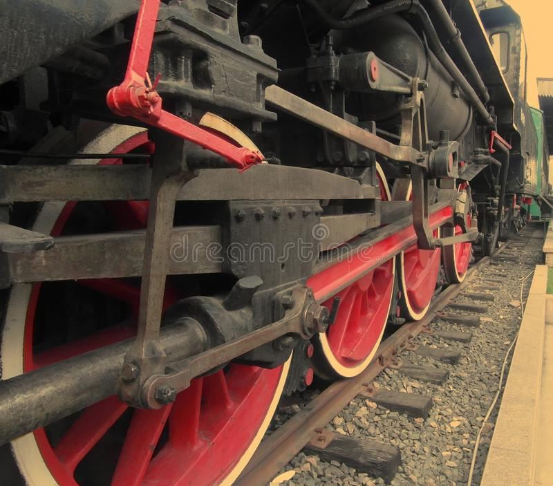 Hjul lokomotiv fotografering för bildbyråer