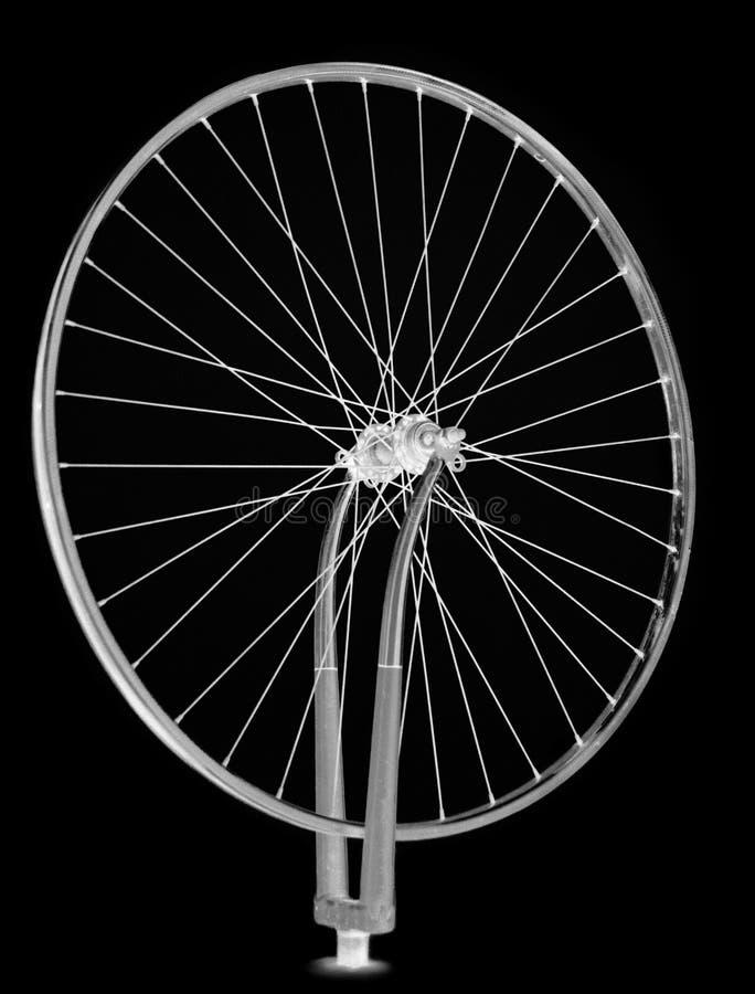 Hjul som rotera, enkel svart arkivbilder