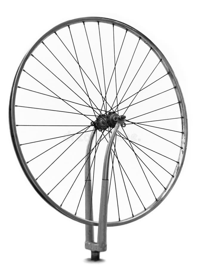Hjul som rotera, enkel vit fotografering för bildbyråer