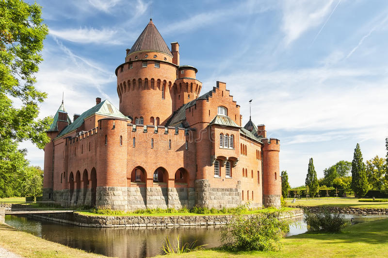 Hjularod城堡在瑞典 免版税图库摄影