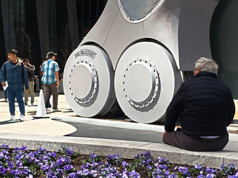 Hjulen av skjulet på Hudson Yards New York arkivfoton