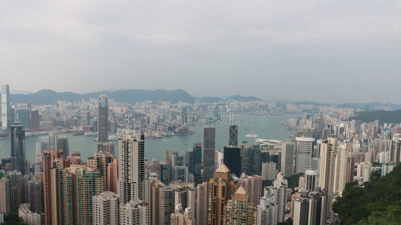 HK är överst royaltyfria bilder