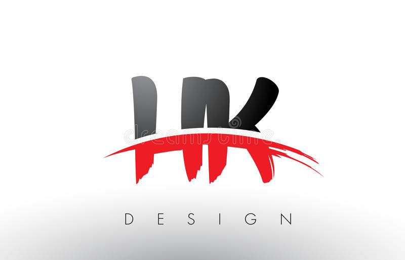 hk h k brush logo letters with red and black swoosh brush Black Vector Swoosh Graphic Vector Underline Swoosh